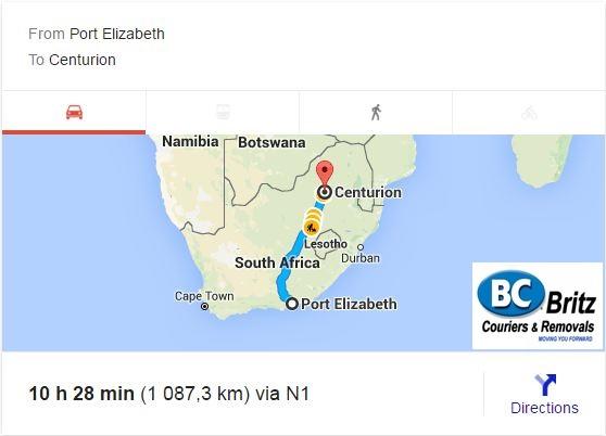Furniture Removals Port Elizabeth To Centurion Britz Couriers