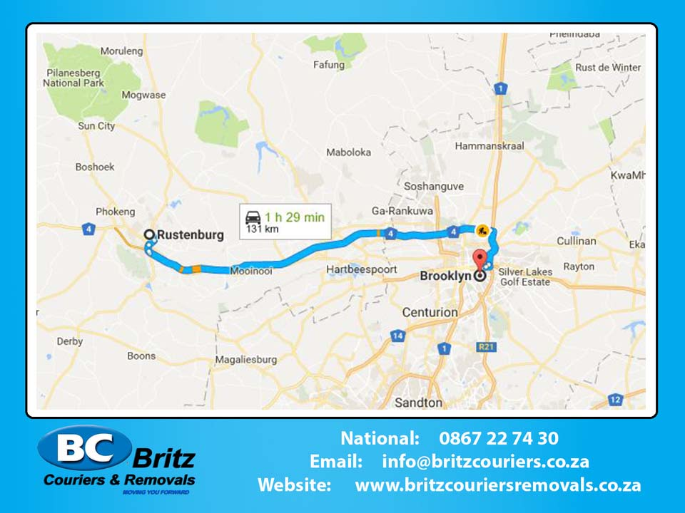 Furniture Removals Rustenburg to Brooklyn