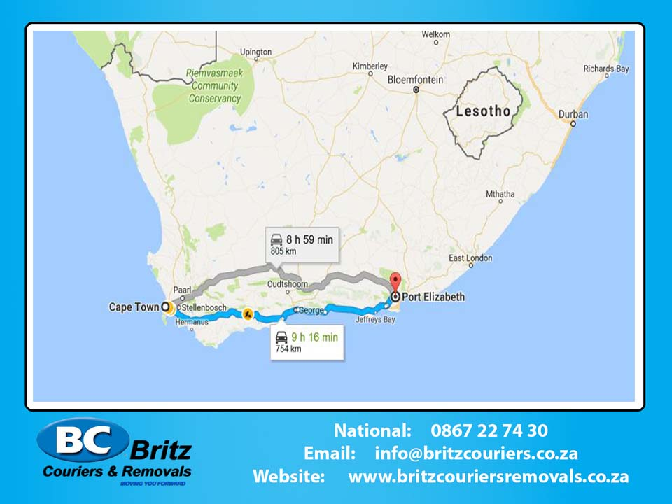 Furniture Removals Cape Town to Port Elizabeth