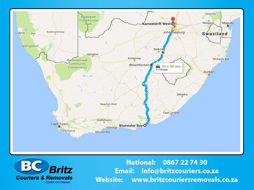 Furniture Removals Blue Waterbay to Kameeldrift West