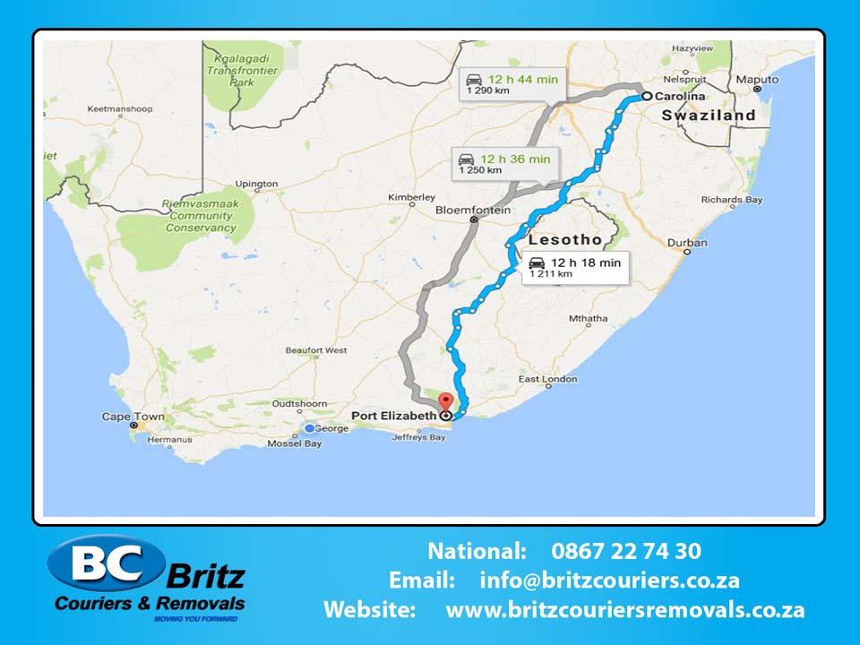 Furniture Removals Carolina to Port Elizabeth