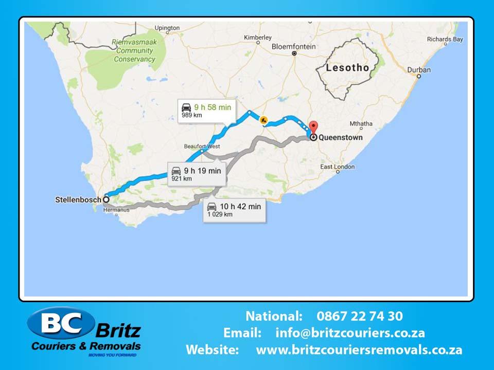 Furniture Removals Stellenbosch to Queenstown